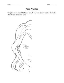 Face Drawing Practice Worksheet