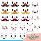Face It! Facial Expressions Clip Art Set