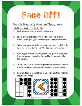 Face Off!: A Ten Frame Place Value Game