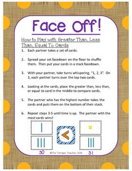 Face Off, Base Ten Blocks Edition