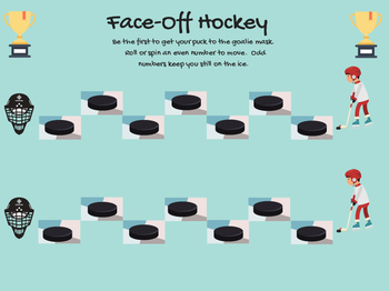 FREEBIE Face-Off Hockey Teletherapy Open-Ended Board Game