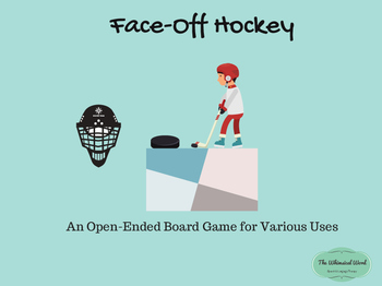 Face-Off Hockey Teletherapy Open-Ended Board Game