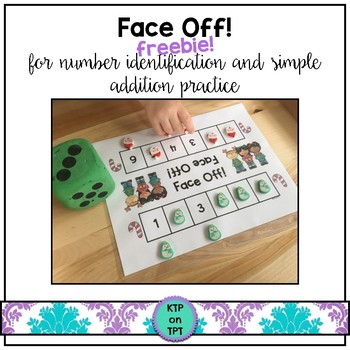 Face Off! freebie (math center for number identification and simple additon)