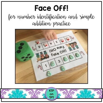 Face Off! (math center for number identification and simple additon)