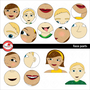 Face Parts Clipart by Poppydreamz