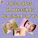 Face Parts and Feelings Teaching Cards with Real Photos