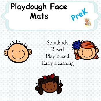Face Playdough Mats