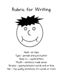 Face Rubric for Writing