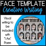 Hand-Drawn Creative Writing Face Template **FREEBIE**