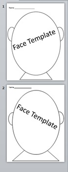 Face Template- Beginning of Year- All About Me