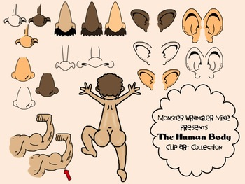 Face and Body Part Clip Art Collection