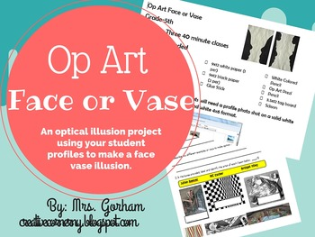 Face or Vase Optical Illusion Unit Project
