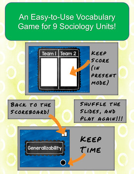 Face the Class! Sociology Vocabulary Games Full Year