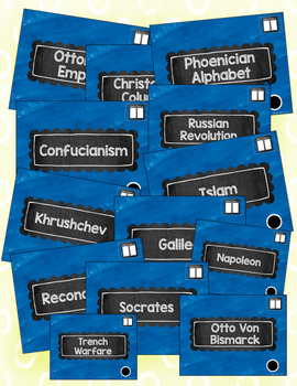 Face the Class! World History Vocabulary Games Full Year