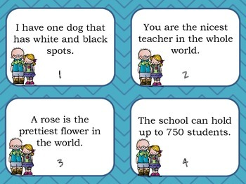 Face the Fact..or Opinion: A Whole Class Matching Game