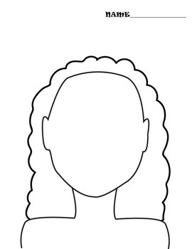 Face/Head Coloring Pages with Multiple Options!