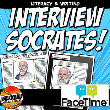 FaceTime with Socrates Common Core Writing and Literacy Activity