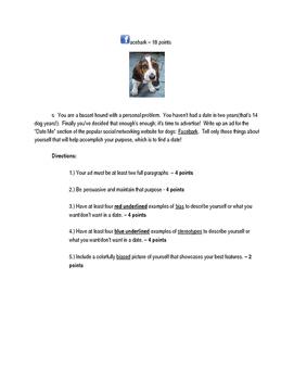 Facebark!: Figurative Language/Bias and Stereotyping