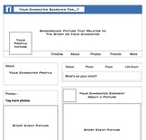 Facebook Character Study Profile Pages Template