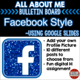 Facebook All About Me Bulletin Board using Google