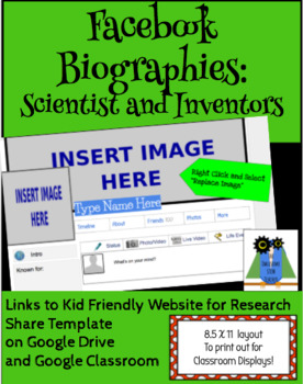 Facebook Biographies: Scientists and Inventors, Google Slides Template