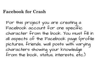 Facebook Book Report Template