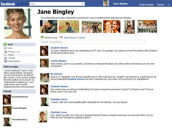 Facebook Character Analysis (Outsiders, Pride and Prejudice and more)