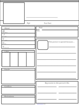 Facebook Character Outline