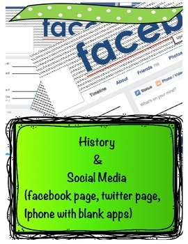 Facebook Character Profile Pages & Twitter Profile Page Lessons