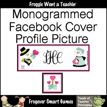 Facebook Cover Monogrammed with Your Initials-Profile Picture