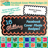 Facebook Cover Photo Frame Clip Art | Rainbow Glitter Chalkboard Labels 2
