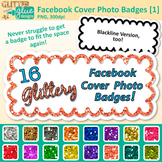 Facebook Cover Photo Frame Clip Art | Rainbow Glitter Labels for Social Media 1