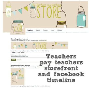 Facebook Cover and tpt storefront in mason jar theme