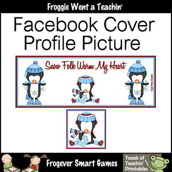Facebook Covers-Profile Pictures--Snow Folk Warm My Heart (Editable)