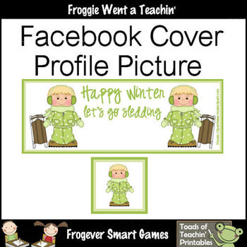 Facebook Covers-Profile Pictures--Happy Winter Let's Go Sledding I