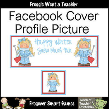 Facebook Covers-Profile Pictures-Happy Winter Snow Much Fun I (Not Editable)