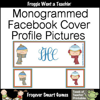 Facebook Covers-Profile Pictures-- Monogram Winter Faces (