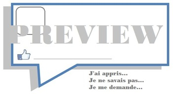Facebook Exit Card - FRENCH
