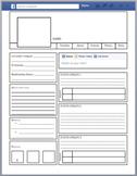 Facebook / Fakebook Characterization Template