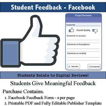 Facebook Feedback Rubric