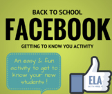 Back to School: Facebook Getting to Know You Activity