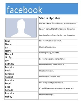 """Facebook """"Get to Know You"""" Activity"""