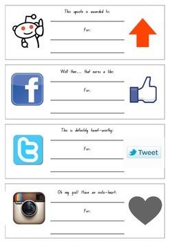 Facebook, Instagram, Pinterest, Twitter & More Award Certificates!