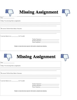 Facebook Missing Assignment