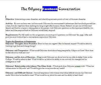 Facebook Novel Study Assignment
