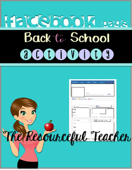 Facebook Page Worksheet - Back to School Activity