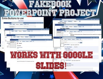 facebook fakebook powerpoint project by make history fun tpt