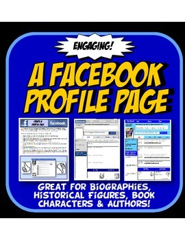 Facebook Profile Page History  or Reading Character Analysis Activity