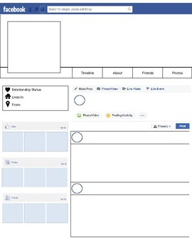 photograph regarding Printable Facebook Template called Fb Profile Template Worksheets Lecturers Pay out Academics