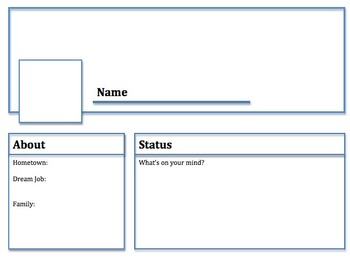 Facebook Profile Template - Character Study